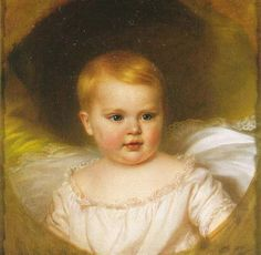 Archduchess Sophie of Austria (birth name: Sophie Friederike Dorothea Marie Josepha von Habsburg-Lothringen) (March 5, 1855 in Vienna – May 29, 1857 in Budapest) was born to Empress Elisabeth of Austria (Sisi) and Emperor Franz Josef of Austria. She was their first child, and was named after her paternal grandmother, Sophie, Princess of Bavaria.