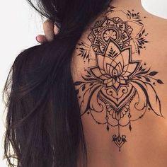 Nacken tattoo muster schwarz - Tattoos - Tattoo Designs for Women Body Art Tattoos, New Tattoos, Small Tattoos, Sleeve Tattoos, Girl Tattoos, Tattoos For Women, Tatoos, Temporary Tattoos, Henna Tattoo Muster