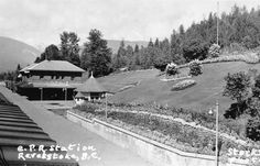 Railway stations in Revelstoke BC Canada Rail, Revelstoke Bc, Sales Image, Whistler, Train Station, Old Pictures, Vintage Postcards, Original Image, British Columbia
