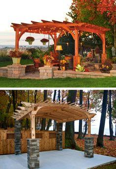Modern Country Designs: Wooden Pergola
