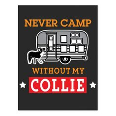 Border Collie Dog Shirt Funny RV Camping Travel Postcard   #animals #travel #weddings camping gear, camping meals, camper camping, back to school, aesthetic wallpaper, y2k fashion
