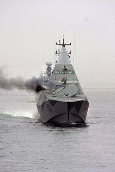 Swedish Stealth ship #SwedishNavy #Visby
