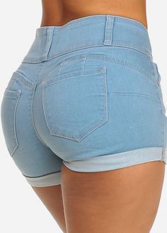 Get Butt Lift Jeans from ModaXpress. We have the biggest and the most stylish range of Brazilian butt lifting jeans and Levanta cola jeans. Cute Comfy Outfits, Sexy Outfits, Sexy Dresses, High Waisted Shorts, Denim Shorts, Waisted Denim, Summer Holiday Outfits, Sweet Jeans, Girls In Mini Skirts