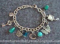 Adventures of a DIY Mom - How to Make Charm Bracelets