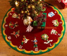 bucilla 12 days of christmas 43 felt tree skirt kit 86068 partridge pear tree