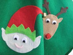 Ugly Tacky Christmas Sweater Party Skirt Santa by DicardomyHoliday