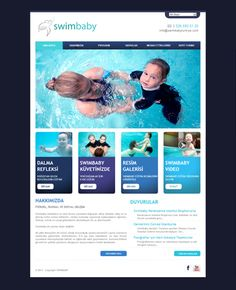 www.swimbabyturkiye.com  #design #webdesign #web #creative #creativewebdesign #melisaerkol #swim #baby #swimbaby