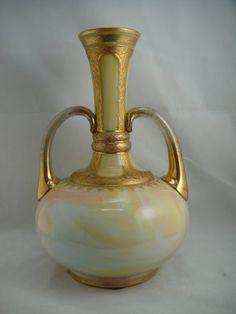 Loetz Rainbow Marmorietes Glass Vase,  Circa 1880's.