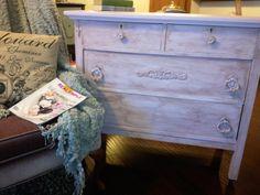Antique Dresser refinished in CeCe Caldwell Pickerington Violet by https://www.facebook.com/Laparisiennevintagechic