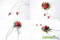 Easy Tutorial on How to Make a Ribbon Rosette Necklace - Pandahall.com