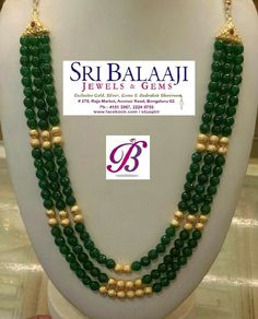 Gold Jewelry In Italy Refferal: 3187676928 Beaded Jewelry Designs, Gold Jewellery Design, Bead Jewellery, Jewelry Patterns, Temple Jewellery, Ruby Jewelry, India Jewelry, Gold Mangalsutra Designs, Jad