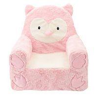 Animal Adventure Sweet Seats Owl Plush Chair - Pink