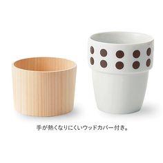 【Merry Point】フェリシモの森活部 「木」へんを学べるフリーカップ&ウッドカバーコースター