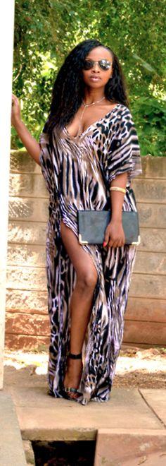 Animal Print Maxi, hot look African Attire, African Wear, African Dress, Ghanaian Fashion, African Fashion, Do It Yourself Fashion, We Are The World, Plus Size Fashion, Beachwear