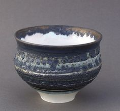 Ceramics by Pam Dodds at Studiopottery.co.uk - 2014. Decorated pot height 10cms