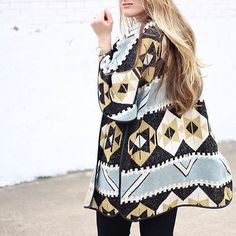 Add print appeal to your Sunday casual in @cameronproffitt's southwestern sweater coat | Get ready-to-shop details with www.LIKEtoKNOW.it | www.liketk.it/26tqQ #liketkit