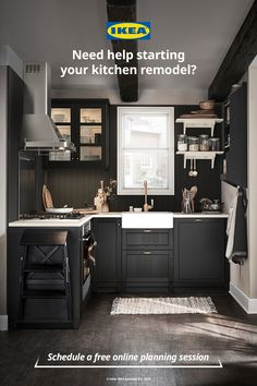 IKEA kitchen experts are now available for online kitchen planning so you can keep your kitchen project moving forward from the comfort of your own home. Schedule a free online appointment today with a professional kitchen planner.  #kitchenideas #kitchenrenovation #kitchenremodel #dreamkitchen