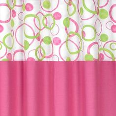 Circles Pink And Green Shower Curtain By Sweet Jojo Designs