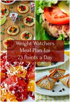 Weight Watchers Meal Plan for 23 Points a Day (Week Smiley's Points - Keto Recipes Plan Weight Watchers, Weight Watcher Point System, Dessert Weight Watchers, Weight Watchers Points Plus, Weight Loss Meal Plan, Keto Meal Plan, Meal Prep, Menu Ww, Meal Planning