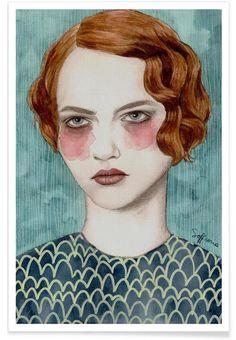 Sasha en Affiche premium par Sofia Bonati   JUNIQE