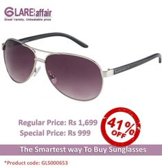 Farenheit Superb 965 Silver Grey Gradient C1 Aviator Sunglasses http://www.glareaffair.com/sunglasses/farenheit-superb-965-silver-grey-gradient-c1-aviator-sunglasses.html Brand : Farenheit  Regular Price: Rs1,699 Special Price: Rs999  Discount : Rs700 (41%)