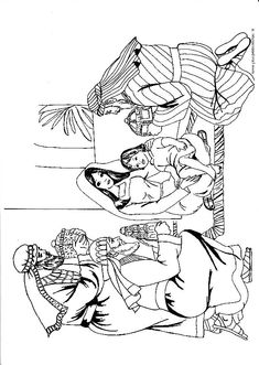 Christmas Coloring Page- We Three Kings. Fun for the kids