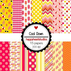 Digital Scrapbook  CoolDown-INSTANT DOWNLOAD by azredhead on Etsy