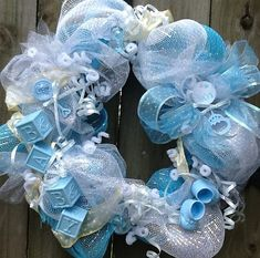 It's a Boy Deco Mesh Wreath