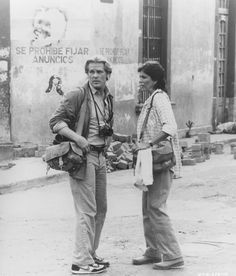 "Nick Nolte and Joanna Cassidy in ""Under Fire"" (1983). Set in the 1979 Sandinista revolution in Nicaragua."