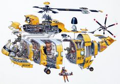 Stephen Biesty - Illustrator - Cross Sections - Rescue Helicopter