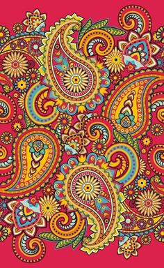 Paisley Stretched Canvas 16075 by Wall Art Prints