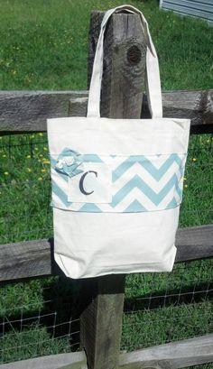chevron personalized tote bag!
