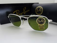 Vintage B&L Ray-Ban W1840 Classic Silver Arista Sunglasses Boxed New by VSOx on Etsy