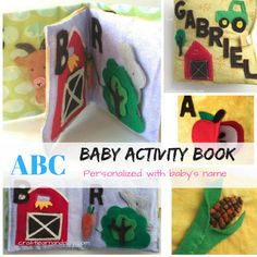 ABC personalized baby book with child's name