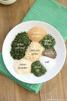 Homemade Ranch Seasoning- whole 30 leave out milk powder and mix with homemade mayo.