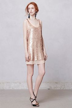 gatsby paillettes dress at anthropologie {dress by paper crown!!} #blush