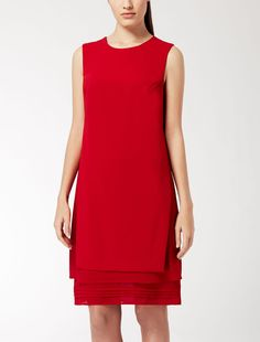 Max Mara VOLPINO rouge: Robe en cady et georgette. Find your outfit on the Official Max Mara Website and discover all that is new in ready-to-wear.