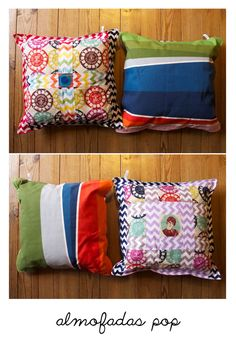 almofadas pop / Ritacor - Quilting & Patchwork