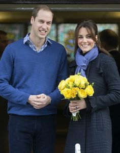 Catherine ,Duchess of Cambridge leaves The King Edwards VII  Hospital with Prince William