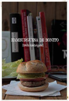 Hamburguesa de bonito {by Paula, Con las Zarpas en la Masa}
