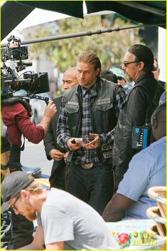 Charlie Hunnam Gets All Made Up on 'Sons of Anarchy' Set