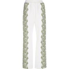 Embroidered Sweatpants | Moda Operandi ($1,000) via Polyvore featuring activewear, activewear pants, sweat pants, white sweat pants, relaxed fit sweatpants, white sweatpants and embroidered sportswear