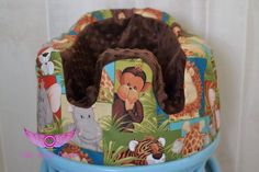 Jungle Theme and Brown Minky Bumbo Seat by LittleAngelsEmporium, $25.99