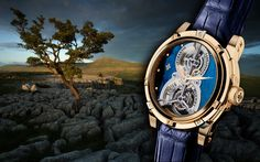Louis Monet - Treasures of the world - Limited Editions - 18K Rose Gold &  Labradorite stone dial.