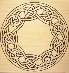 Large Celtic Knotwork Wreath Rubber Stamp I want a celtic style tattoo so badly! Celtic Quilt, Arte Viking, Viking Art, Viking Designs, Celtic Knot Designs, Celtic Knot Tattoo, Celtic Tattoos, Celtic Symbols, Celtic Art