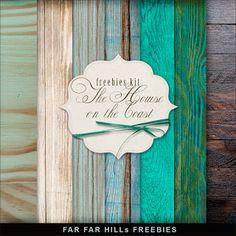 Far Far Hill: Freebies Backgrounds Kit - The House on the Coast