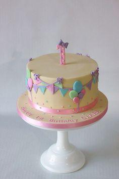 Balloons & Bunting Cake