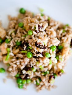 brown rice salad with apples, walnuts, and cherries - quinoa instead of brown rice