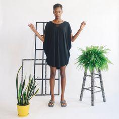 Windowpane Cowl Mini Dress por sarabergman en Etsy