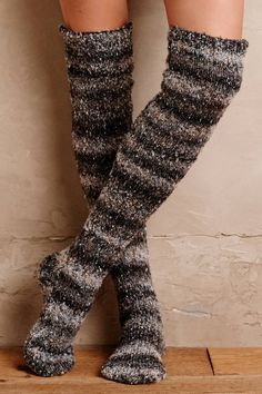 Snowfall Over-The-Knee Socks | Pinned by topista.com